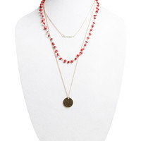 Eclectic Faux Stone Layered Necklace | Wet Seal