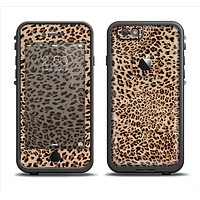The Brown Vector Leopard Print Apple iPhone 6 LifeProof Fre Case Skin Set