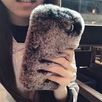 Handmade Luxury Rabbit Fur Phone Case Cover Protector for iphone 6,iphone 6 plus,iphone 5,iphone 5s,iphone 4s,samsung note 4,samsung note 3,samsung S5 I9600,Samsung S4 i9500