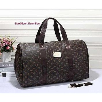 Louis Vuitton LV Women Leather Multicolor Luggage Travel Bags Tote Handbag-4