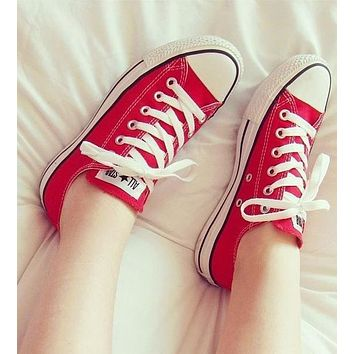 Converse Fashion Canvas Flats Sneakers Sport Shoes-7