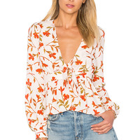 Lovers + Friends Hermosa Top in Palm Print