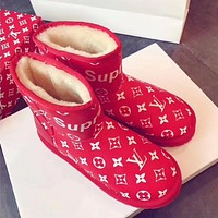 Supreme X Lv Women Casual Flats Shoes Boots-1
