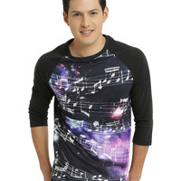 XXX RUDE Galaxy Music Note Raglan