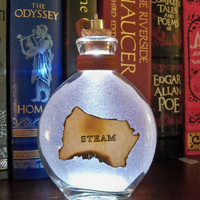 """Once Upon a Fantasy"""" Steampunk light up bottles- STEAM"""