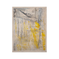 """CarolLynn Tice """"Abstraction"""" Grey Yellow KESS Naturals Canvas (Frame not Included)"""