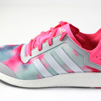 Adidas Women's Pure-Boost Reveal White/Pink/Gray Running Shoes B26503