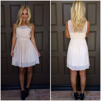 Sweet Glimmer Sequin And Bead Dress - NUDE