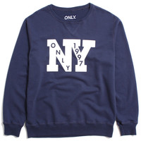 Outfield French Terry Crewneck Sweatshirt Vintage Navy