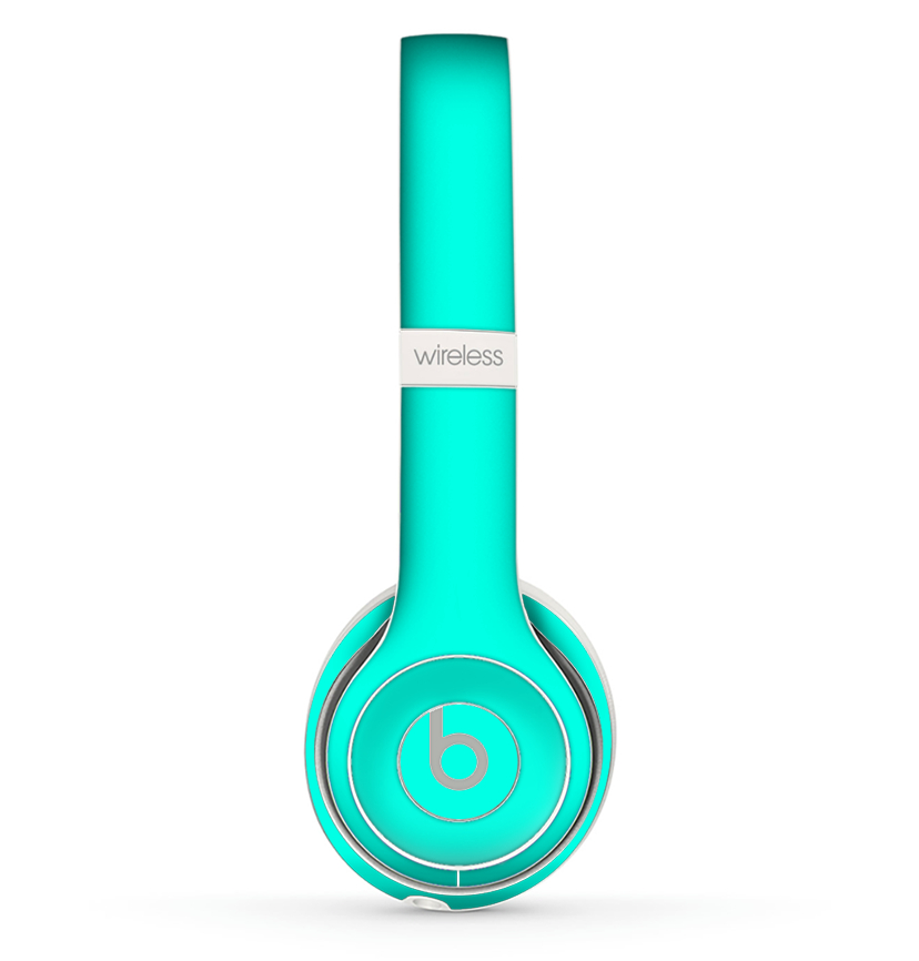 Image of The Solid Mint V2 Skin Set for the Beats by Dre Solo 2 Wireless Headphones