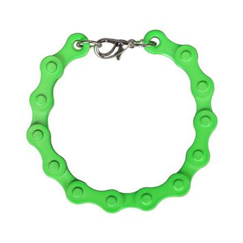 Bicycle Chain Bracelet in Neon Green
