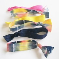 Hair Ties, Set of 6, Fall Winter Ombre by Lucky Girl Hair Ties