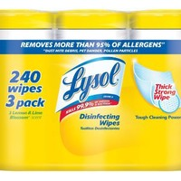 Lysol Disinfecting Wipes, Lemon and Lime Blossom, 80 Wet Wipe Containers, 3 Count, Total 240 Count | deviazon.com