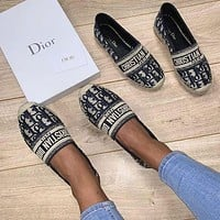 Dior women's flat fisherman shoes
