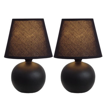 """All the Rages 8.78"""" H Table Lamp with Empire Shade (Set of 2)"""