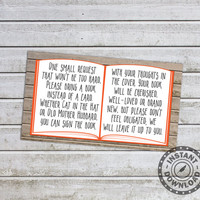 Neutral Baby Shower Games Bring a Book Instead of a Card Printable Baby Shower Invitations Insert (0At) Instant Download