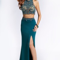 Teal Two-Piece Dress 24293 - Prom Dresses