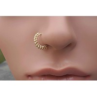 Bali Gold Nose Hoop Nose Ring