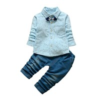 Autumn spring baby boys clothes gentleman style children tracksuit set baby boys clothing set kids outfits suit clothes