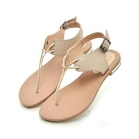 Simple Style Flat Sandals