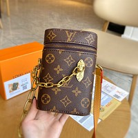Louis Vuitton LV new style foreign fashion all-match mobile phone bag simple one-shoulder messenger bag