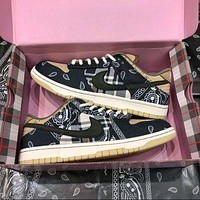 Nike Air Force One sb dunk low-top cashew flower sneakers Valentine's day limited skateboard shoes men and women sports casual shoes
