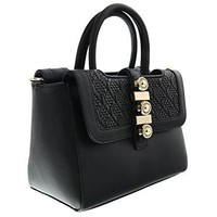 Versace EE1VRBBH1 Black Satchel for Women