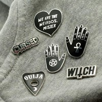 Witchcraft Series Brooch Witch Palmistry Enamel Pins