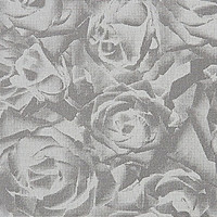 Sample of Gray and Silver Floral Wallpaper by Annet Van Egmond