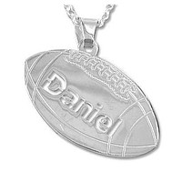 Sterling Silver Personlized Football Pendant