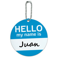 Juan Hello My Name Is Round ID Card Luggage Tag