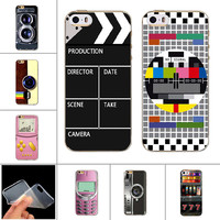 Nostalgia Design Soft TPU Case for iPhone 6 6s 5 5s 6plus Silicone Fashion Novelty Back Cover Tape Camera Painting