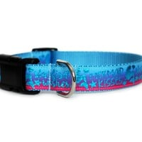 Mermaid Kisses and Starfish Wishes Dog Collar