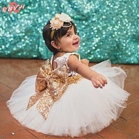 Summer Little Princess Girls Dresses Clothes For Girl Pageant Wedding Gown Toddler Girl Party Wear Children Frocks Designs