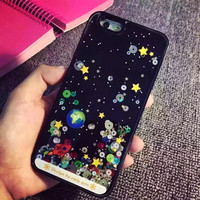 Newest Back Cover For iphone 6S 6 Plus 5 5S Phone Cases for Apple iphone 6 Case Liquid Glitter Bling Star Sky Quicksand i5 i6 6P