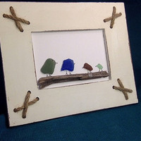 Sea Glass Art- birds
