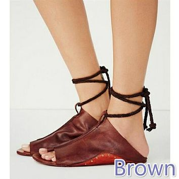 Casual lace-up flat and plus-size women's sandals are hot sellers
