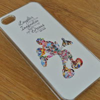 Custom Made Walt Disney Quote Mickey Mouse Character Montage Iphone Cover for Iphone 4 4s 5 5s 5c 6 and 6+  Hand Made Case In The Uk