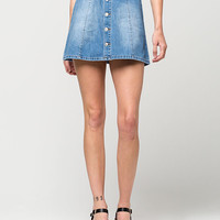 CELEBRITY PINK Button Front Denim Skirt | Short Skirts