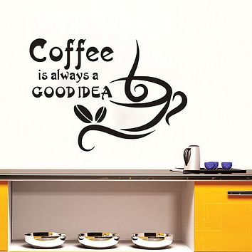 Coffee is a good idea wall decals dining room kitchen wall sticker