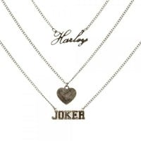 DC Comics Suicide Squad Harley Quinn and Joker Necklace