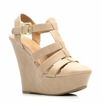 Granola Girl Buckled Wedges