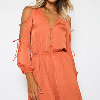 The Nightingale Long Sleeve Dress - Copper