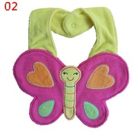 Styles Hot Sale Lovely Girl Boy Baby Lunch Bibs Kid Toddler Cartoon Animal Saliva Towel Bibs