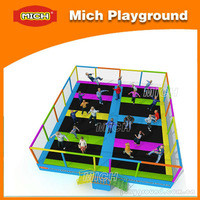 Source MIch high quality fabric cloth best design team cheap trampoline for sale on m.alibaba.com