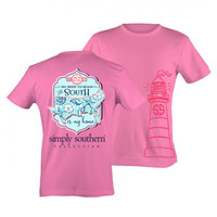 Simply Southern PRP South is my Home State Beach Seashells Girlie Bright T Shirt