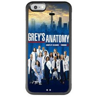 iPhone 6 Case, Onelee Grey's Anatomy iPhone 6 (4.7) Case [Non Slip] [Ultimate Protection] Shock Absorbent Premium Slim Fit Flexible TPU Case for Apple iPhone 6 - Black