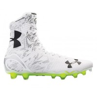 Under Armour White/Silver Highlight Cleats | Lacrosse Unlimited