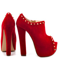 Luichiny - Mighty Miss - Red Suede