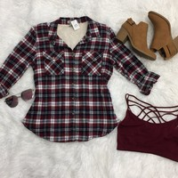 Cabin Fever Plaid Flannel Top
